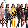 JUSTYOUROUTFIT Womens TS2297 Velvet Love Fitness Tracksuit