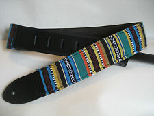 UNIQUE LEATHER HIPPIE GUITAR/BASS STRAP