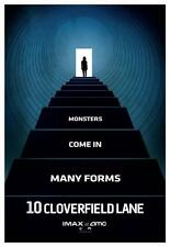"10 CLOVERFIELD LANE - Original Promo Movie Poster 9""x13"" IMAX 2015 AMC Blue 2016"