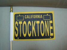 Stocktone flag car truck 4x6 inch flag stockton flag license plate topper