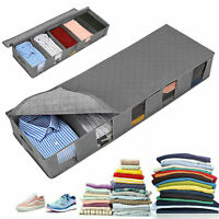 Under-Bed Organizer Under the Bed Storage Bag Box for Clothes Blankets Foldable