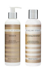 For All My Eternity Natural 10 Fake Tan Lotion + Self Tan Extending Shower Gel