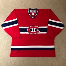 Vintage 1995 Montreal Canadiens CCM Hockey Jersey NHL Red XL Like New Rare