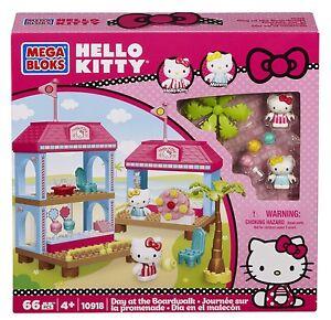 MEGA BLOKS Hello Kitty 66 pc SET 10918 Day at the Boardwalk Friends Mimmy create