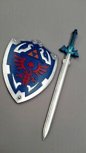 ONE SET Zelda Memory Foam Blade Skyward True Master Sword With Shield Kids Love