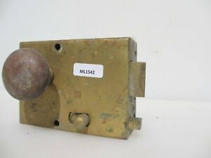 Vintage Brass Bathroom Door Lock Knobs Handles Old Sliding Bolt Antique