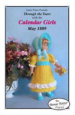 """Crochet doll dress pattern """"Calendar Girls 1889"""" 18 inch  Annie Potter"""