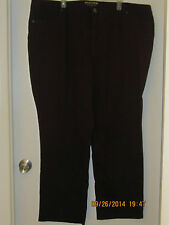 SONOMA Womens plus size 24W average burgundy wine colored denim jeans EUC