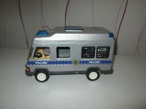 Playmobil Polizeiauto mit Zubehör Mannschaftswagen Transporter Polizei Auto