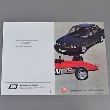 ✇ ATW alloy rims for BMW Ford Opel Brochure from 1973 for rennstyling