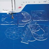 6pc Acrylic Quilting Templates Sewing Stencils Patchwork Ruler Sewing Craft Tool