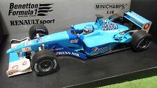 F1 BENETTON 2001 RENAULT SPORT B201 formule 1 BUTTON 1/18 MINICHAMPS 100010008