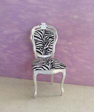 Sedia stile veneziano foglia argento tessuto cavallino zebrato