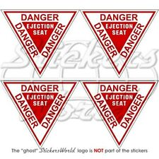 DANGER Ejection Seat Martin Baker RAF USAF NATO Aircraft 60mm Stickers Decals x4