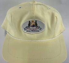 Royal Melbourne Golf Baseball Hat Australian Open SnapBack Yellow White EUC 80's