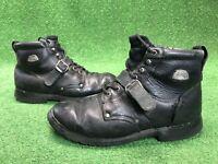 Teknic Street Riding  Boots Size 12 Men's Black motorcycle bike Leather