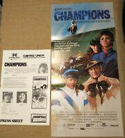 "Champions 1984 Australian Daybill movie poster & Press Sheet 13"" x 30"" approx"
