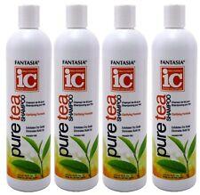 Fantasia IC Pure Tea NATURAL Hair Shampoo Exfoliates Dry Scalp 16 Oz Each 4 Pack