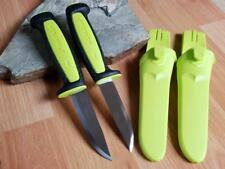 2 Pc Lot Mora Morakniv Basic 511 Carbon Steel Lime Green Camp Knife 01933