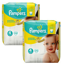 2x 24=48 PEZZO Pampers Premium Protection PANNOLINI MISURA 4 MAXI 8-16kg BABY