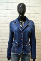 DOLCE&GABBANA Giacca in Jeans Blu Donna Taglia L Blazer Giubbino Jacket Women