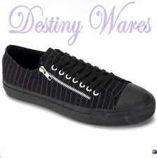 Flat (0 to 1/2 in.) Canvas Striped Shoes for Women