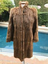 Vintage Brown Fur Long Coat