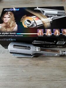 Rare BABYLISS 2329U Pro Styler Ionic Rotating Curling Hair Curler Boxed Exc cond