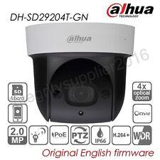 Dahua 2MP 4X Zoom PTZ IP Security Camera POE P2P IR 1080P HD TF WDR SD29204T-GN