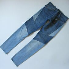 NWT Levi's Lo-Ball Stack in Patchwork 2-Tone Slim Extra Long Stretch Jeans 32