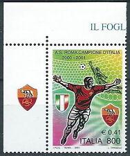 2001 ITALIA ROMA CAMPIONE D'ITALIA CALCIO MNH ** - ED-7