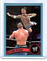 WWE CM Punk #25 2011 Topps Blue Parallel Base Card SN 1897 of 2011