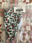 Longaberger Fabric Liner Traditional Holly for your Christmas Popcorn basket NEW