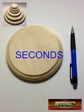 """M00512 Morezmore 1 Unfinished 5"""" Seconds Round Wood Base Wooden Plaque"""