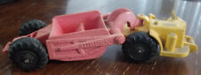 Vintage Auburn rubber toy farm tractor and spreader trailer 1950's