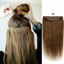 """16""""20""""24""""28"""" CLIP IN ONE PIECE 100% REMY HUMAN HAIR EXTENSIONS FULL HEAD 5 Clips"""