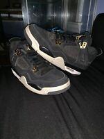 "Nike Air Jordan 4 Retro IV ""ROYALTY""  Black/Gold Size 7Y No Sole"