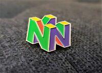 Nintendo 64 Logo Pin N64 Enamel & Metal Promo Lapel Pin 90s Video Game Display