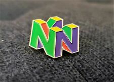 Nintendo 64 Logo Pin N64 Enamel & Metal Promo Lapel Pin 90s Video Game Display