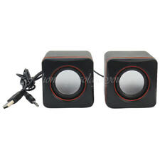 Design mini USB Lautsprecher Boxen für Laptop PC schwarz Loudspeaker speaker