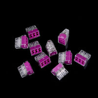10PCS PCT-106 Push wire wiring cable connector 6 pin conductor terminal block_HC
