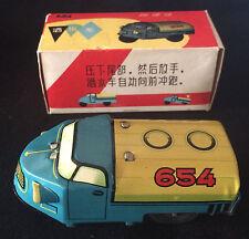 Rare Tin Toy China Water Wagon 654 Pressing Friction With Original Box Very Nice