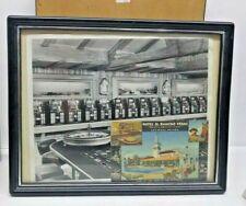 Obsolete El Rancho Hotel Casino Las Vegas Memorabilia With Postcard Framed