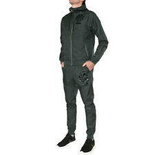 Nike M NSW Wr Tracksuit Woven GX Seaweed Black XL Trainingsanzug Grün Schwarz