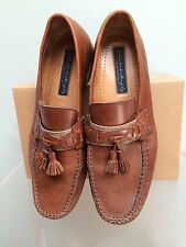 9 1/2 M Johnston & Murphy Brown Leather Tassel Loafers/Shoes