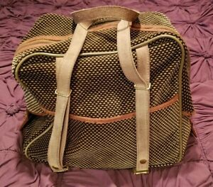 Womens Travel Bag with Adjustable Shoulder Strap - Acceptable Condition 14x14x8