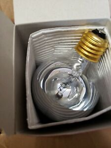 Case of 6 Satco S3862  60 Watt Incandescent G25  Silver Crown Globe Long Life