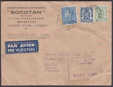 Belgium Airmail to Tel Aviv, Palestine