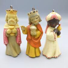 Vintage ANRI Ferrandiz 3 Kings Wisemen Christmas Ornaments Nativity Figure Italy