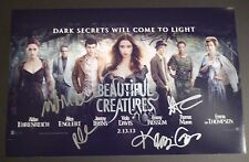 BEAUTIFUL CREATURES Cast(x5) Hand-Signed 11x17 photo Kami Garcia &Margaret Stohl